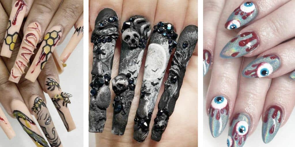 18 Creepy and Fun Halloween Nail Ideas To Recreate