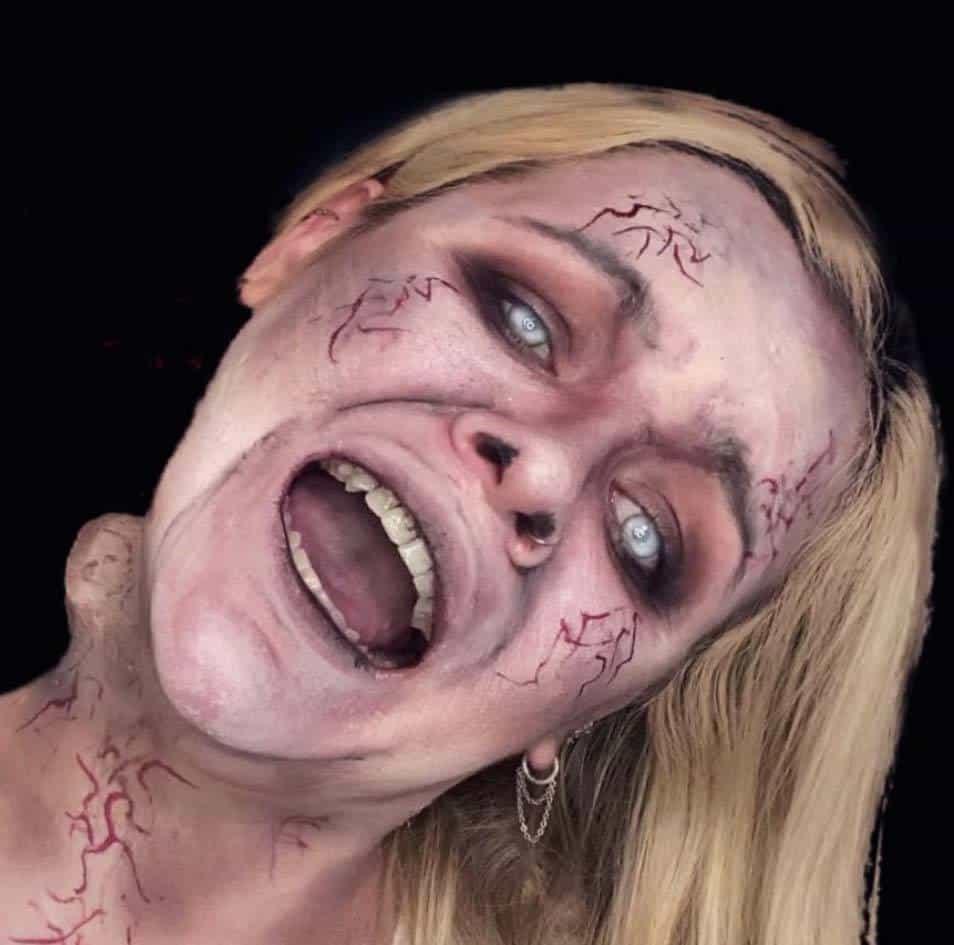 Bent Neck Halloween Makeup
