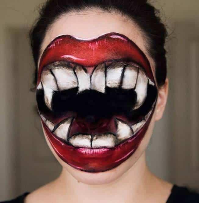 Faceless Halloween Makeup
