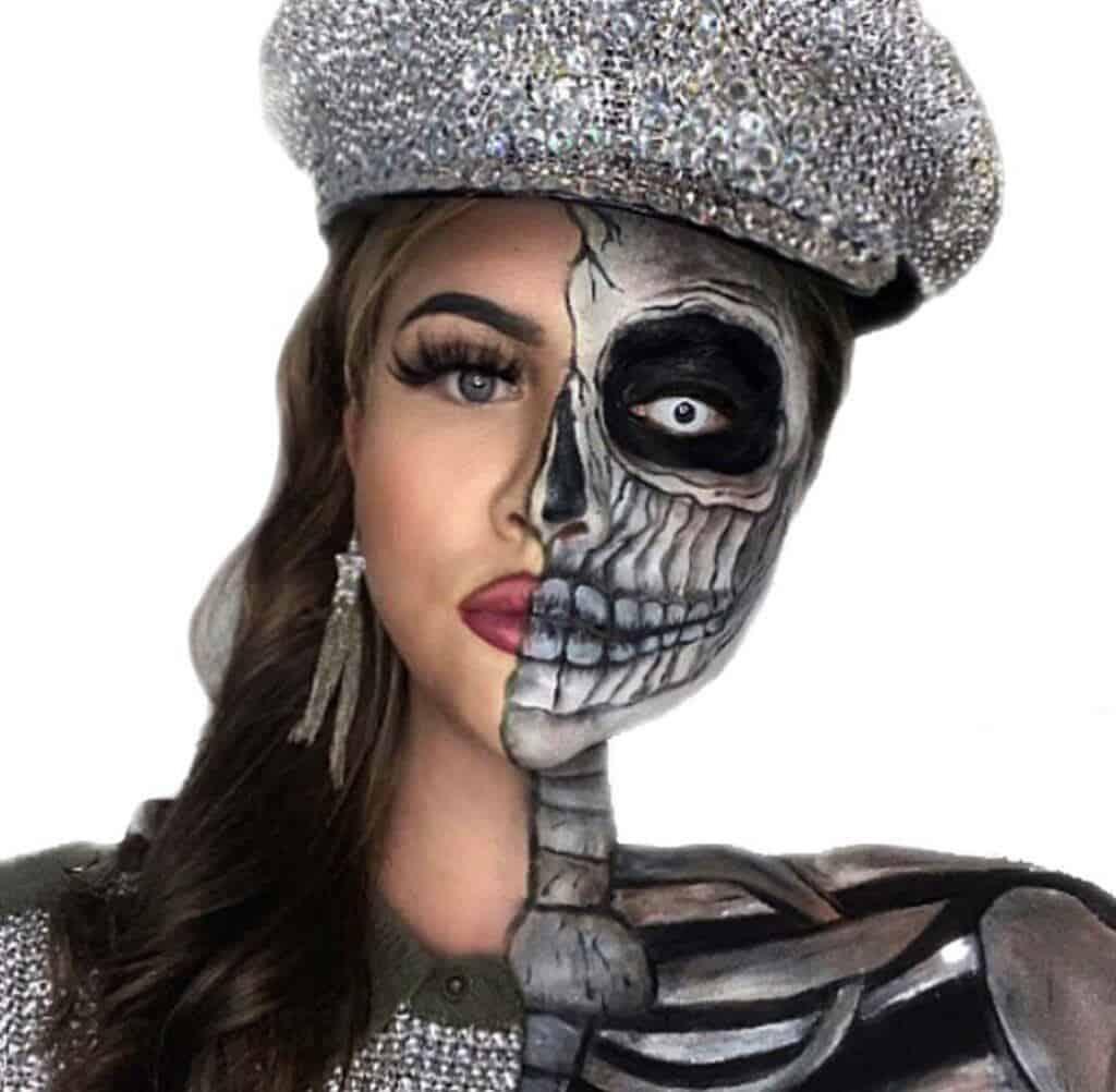 Person or Skeleton Halloween Makeup?