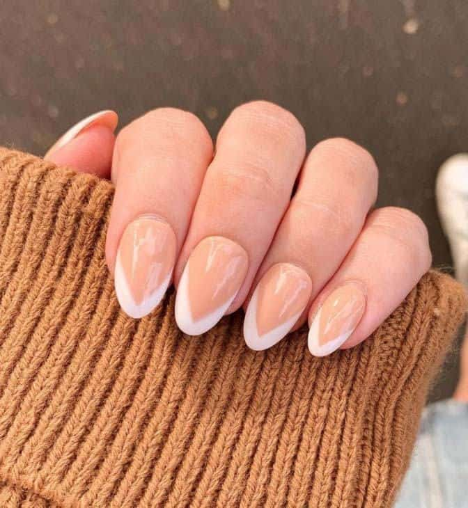 Pointed French Nails