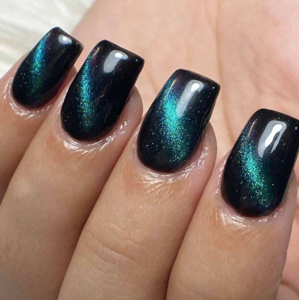 Space Dust Nail Design